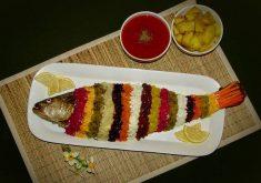 آموزش طرز تهیه ماهی شکم پر مرحله به مرحله