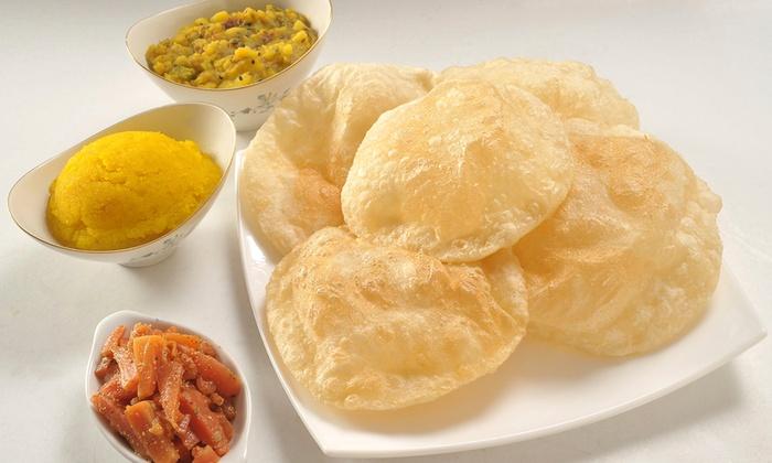 طرز تهیه نان پوری هندی به صورت تصویری