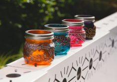 آموزش مرحله به مرحله رنگ کردن بطریهای شیشهای + ویدئو