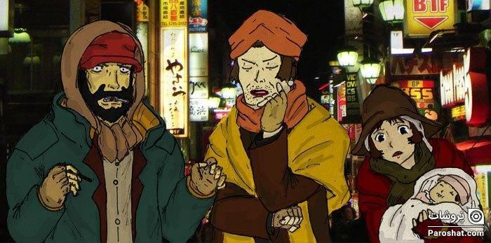 """معرفی انیمه """"پدرخواندههای توکیو"""" (Tokyo Godfathers)"""
